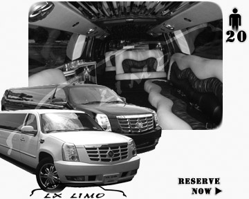 Cadillac Escalade 20 passenger SUV Limousine for rental in San Antonio, TX